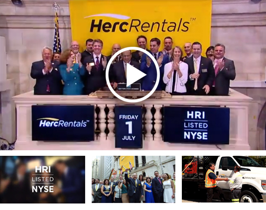 Herc Holdings Celebrates Its First Day of Trading